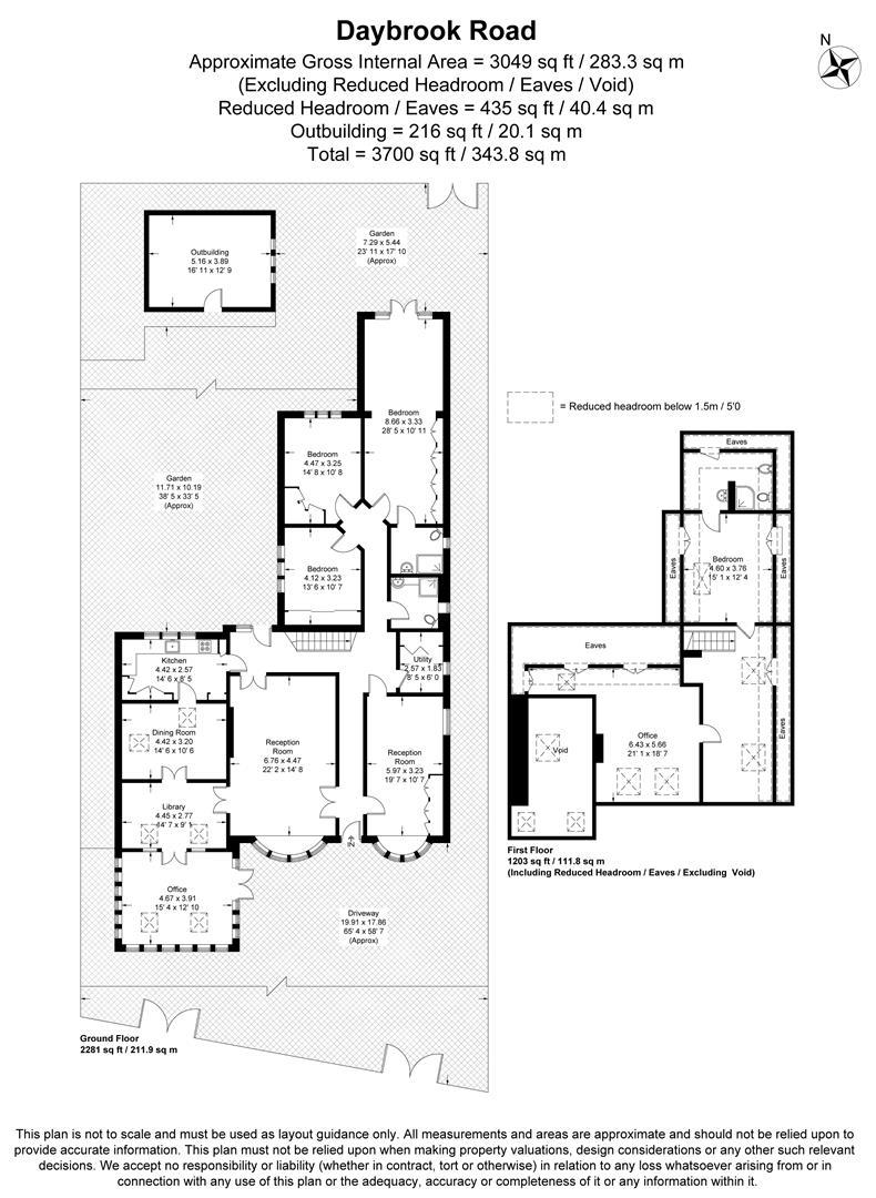 Floorplan for Daybrook Road, Merton Park